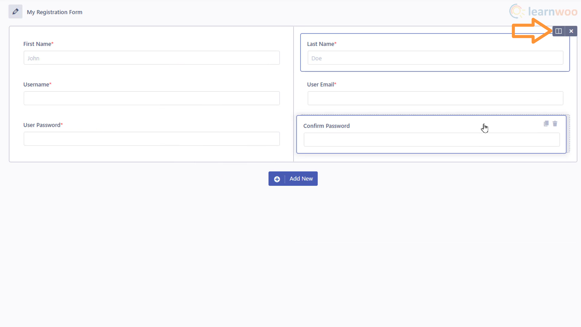 Creating a login and registration form