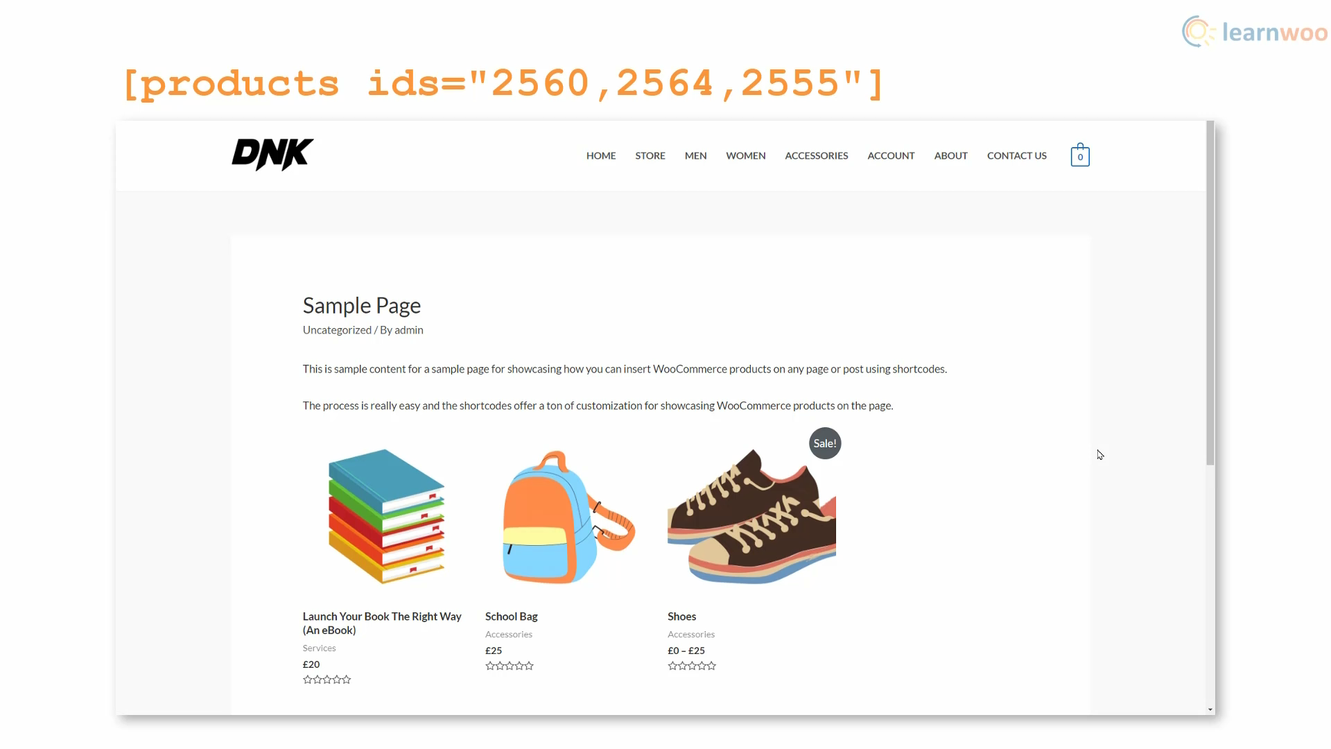 show woocommerce products on any page