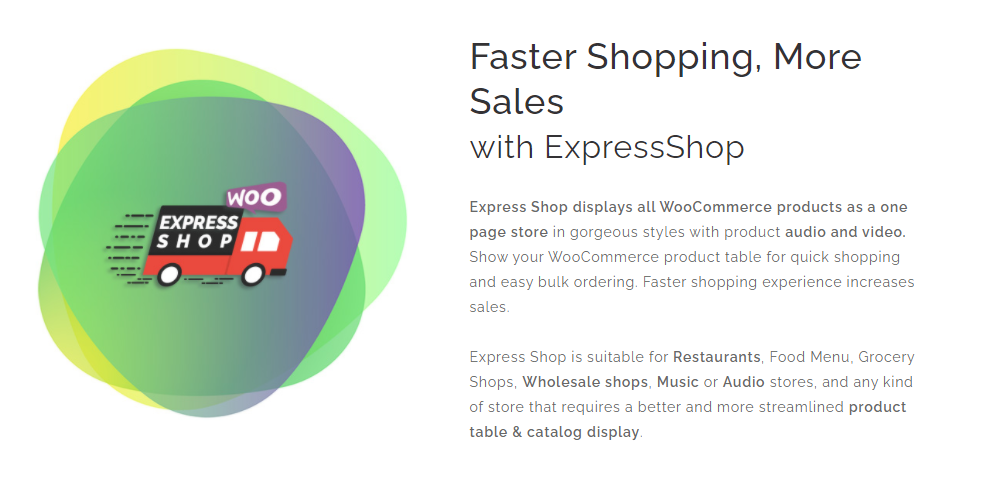 WooCommerce One Page Shopping Plugins