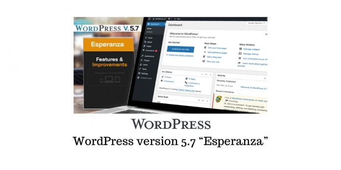 """WordPress 5.7 """"Esperanza"""""""