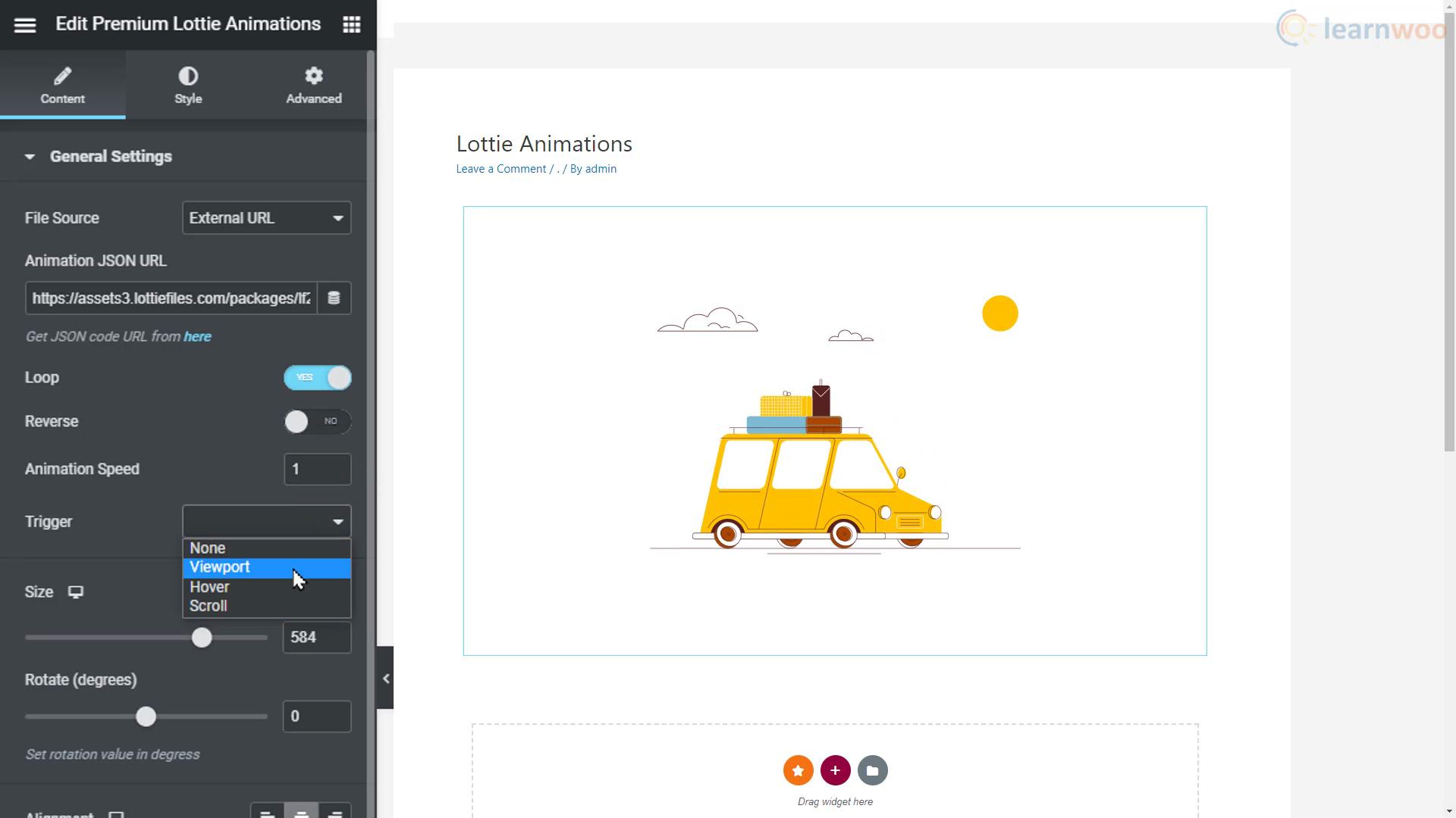 customize animation in lottie editor