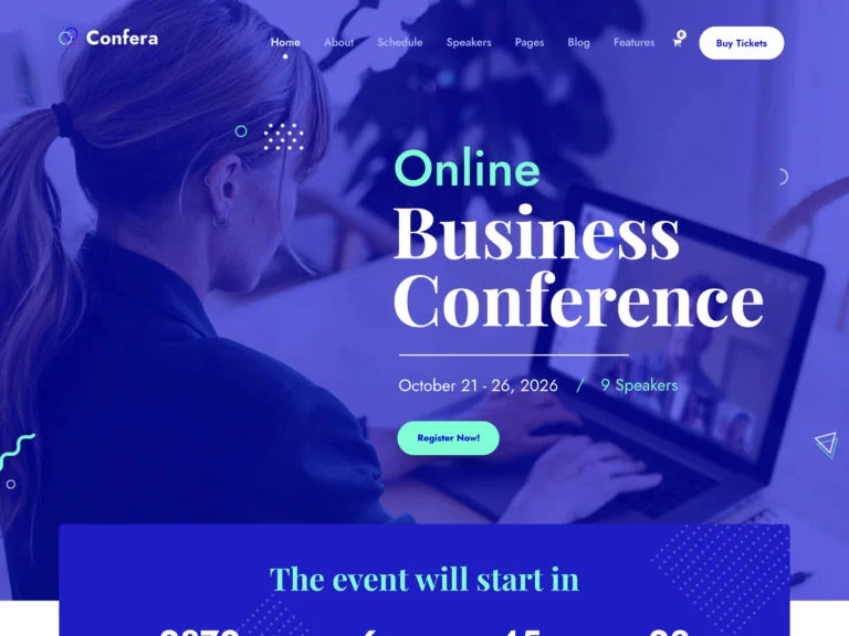 WordPress Themes for Online Conferences