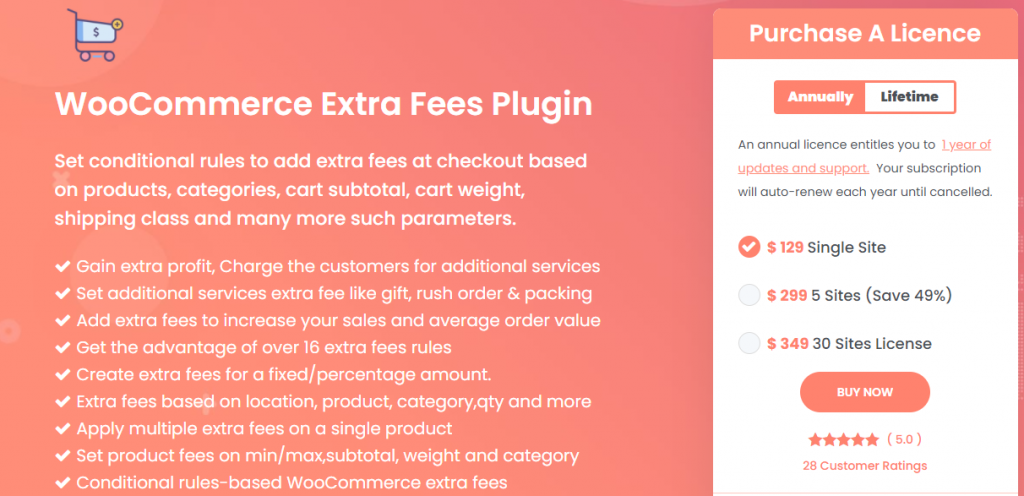 Dynamically Charge Extra Fee