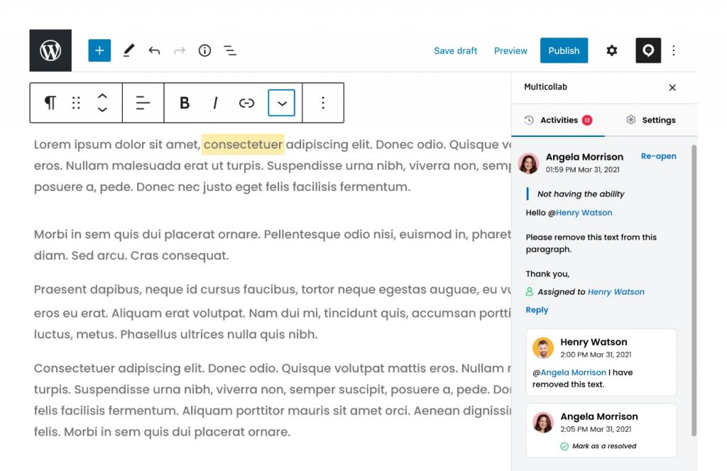 Editorial Team Collaboration