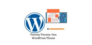 Twenty Twenty-One theme