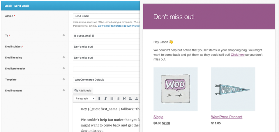 automate woo abandoned cart emails