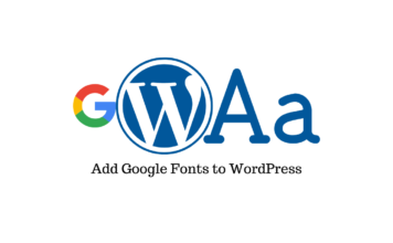 Add Google Fonts to WordPress